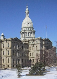 The Michigan Capital Building in Lansing